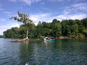 Kayaking on Loch Raven Reservoir