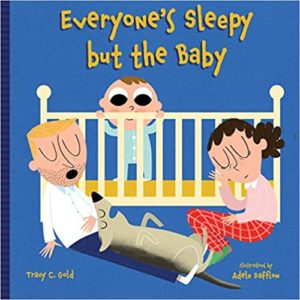 "Great baby shower gift book, ""Everyone's Sleepy but the Baby"""